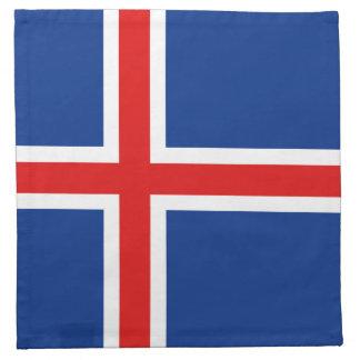 アイスランドの旗のナプキン ナプキンクロス