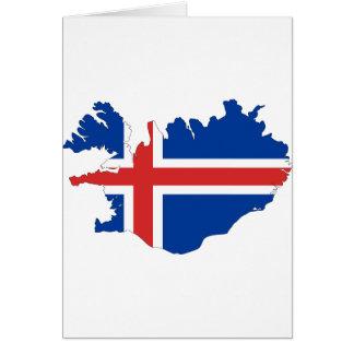アイスランドの旗の地図 カード