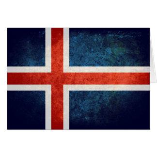 アイスランドの旗 カード