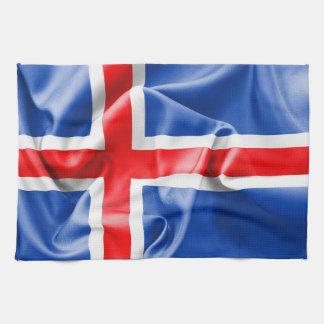 アイスランドの旗 キッチンタオル