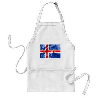 アイスランドの旗 スタンダードエプロン