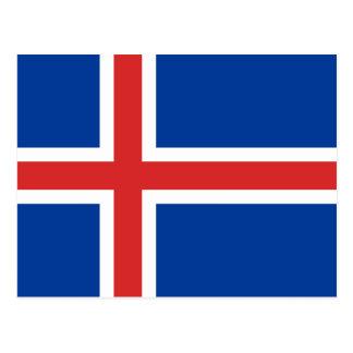 アイスランドの旗 ポストカード