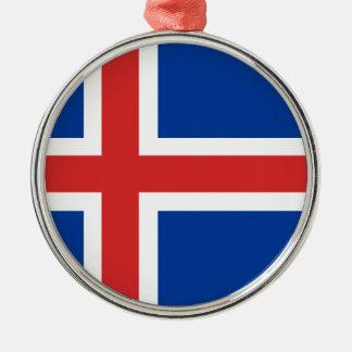 アイスランドの旗 メタルオーナメント