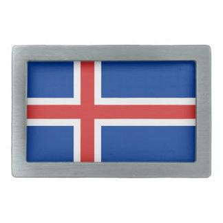 アイスランドの旗 長方形ベルトバックル