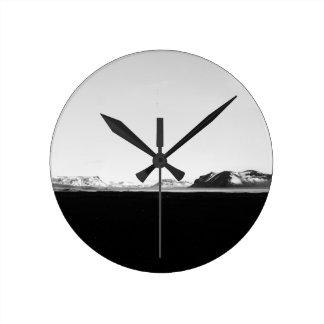 アイスランドの景色 ラウンド壁時計