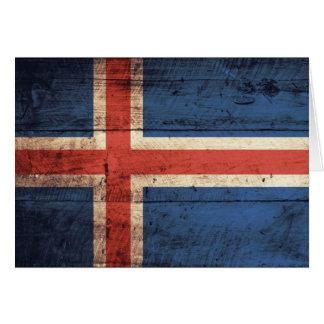 アイスランドの木の旗 カード