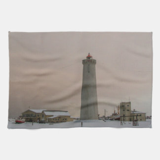 アイスランドの灯台 キッチンタオル