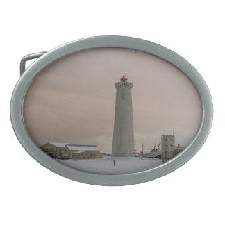 アイスランドの灯台 卵形バックル