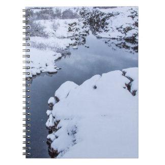 アイスランドの硬貨の割れ目 ノートブック