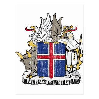 アイスランドの紋章付き外衣 ポストカード