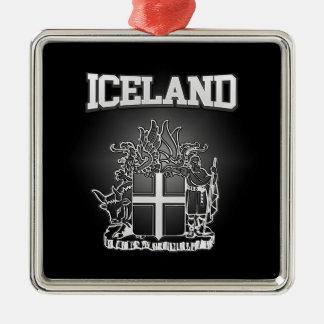 アイスランドの紋章付き外衣 メタルオーナメント