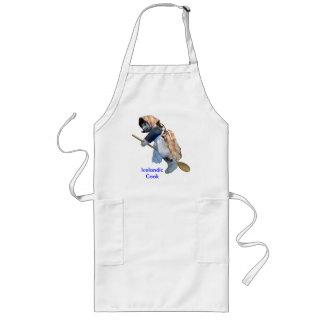 """""""アイスランドの調理師""""の台所魔法使いの乗馬のスプーンのエプロン ロングエプロン"""