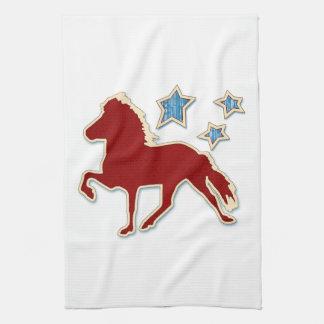 アイスランドの馬のフェスティバルの星 キッチンタオル