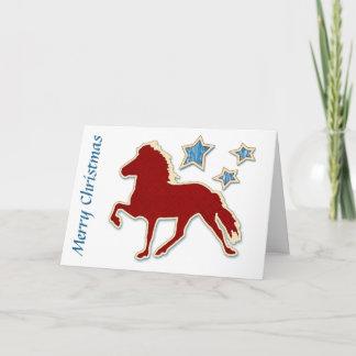 アイスランドの馬はメリークリスマスを主演します クリスマスカード
