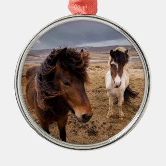アイスランドの馬 メタルオーナメント