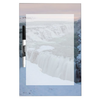 アイスランドのGullfossの滝 ホワイトボード