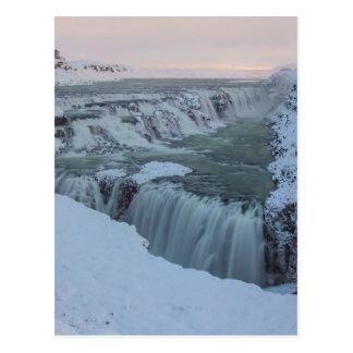アイスランドのGullfossの滝 ポストカード