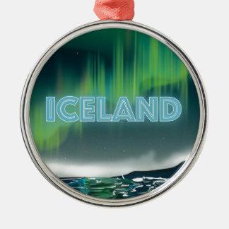 アイスランドのNorthern Lights旅行芸術 メタルオーナメント