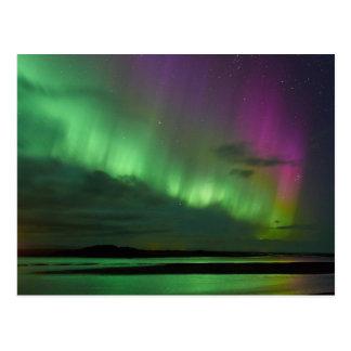 アイスランドのNorthern Lights ポストカード