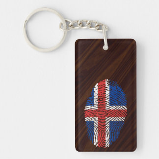 アイスランドのtouchの指紋の旗 キーホルダー