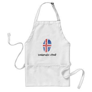 アイスランドのtouchの指紋の旗 スタンダードエプロン