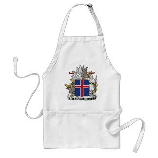 アイスランドはÍslandの紋章付き外衣です スタンダードエプロン