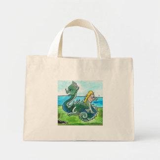 アイソーポスのドラゴンおよび人魚Totebag ミニトートバッグ