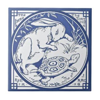 アイソーポスのノウサギ及びカメの競争のRepro Mintonのタイル タイル