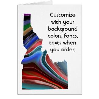 アイダホのカラフルはいかに好むかカードをカスタマイズ カード