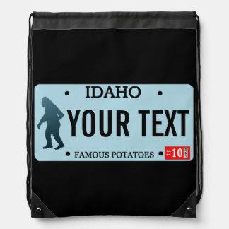 アイダホのサスカッチのナンバープレート ナップサック