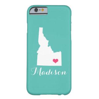 アイダホのハートの水のカスタムのモノグラム BARELY THERE iPhone 6 ケース
