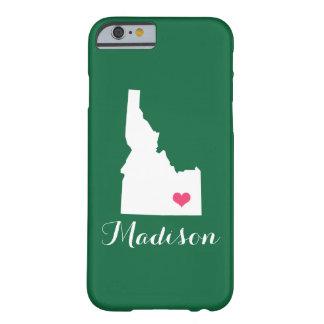 アイダホのハートの緑のカスタムのモノグラム BARELY THERE iPhone 6 ケース
