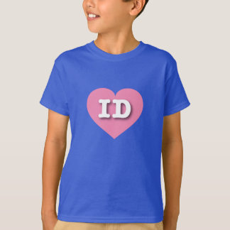 アイダホのピンクのハート-大きい愛 Tシャツ