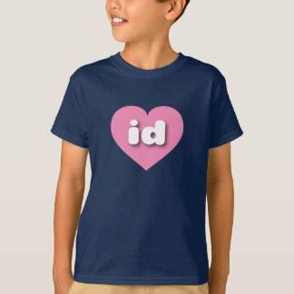 アイダホのピンクのハート-小型愛 Tシャツ