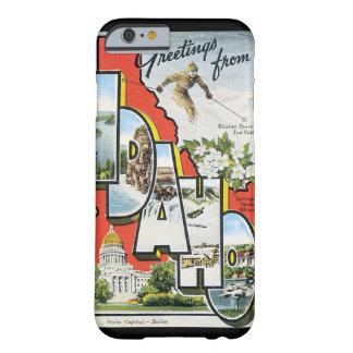 アイダホのヴィンテージ旅行ポスターアートワークからの挨拶 BARELY THERE iPhone 6 ケース