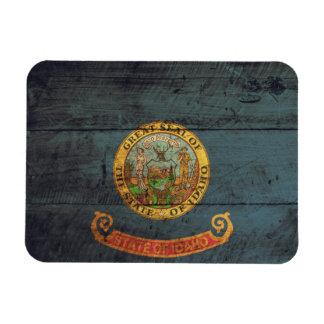 アイダホの古い木製の旗; マグネット