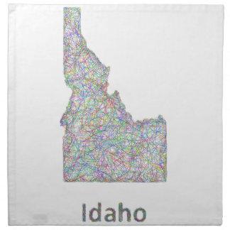 アイダホの地図 ナプキンクロス