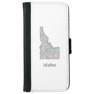 アイダホの地図 iPhone 6/6S ウォレットケース