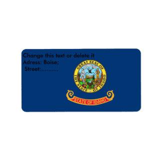 アイダホの旗が付いているカスタムなラベル ラベル