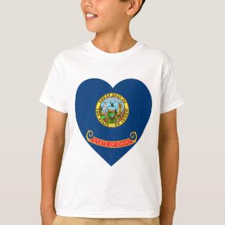 アイダホの旗のハート Tシャツ