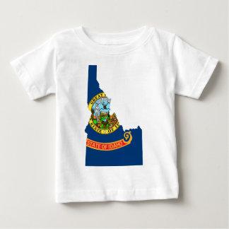 アイダホの旗の地図 ベビーTシャツ