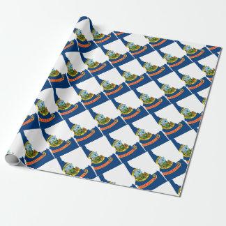 アイダホの旗の地図 ラッピングペーパー