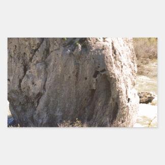 アイダホの石 長方形シール