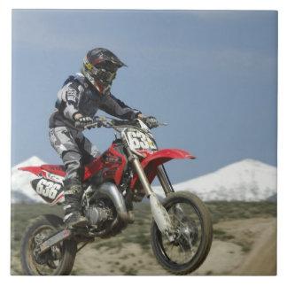 アイダホの競争競争するモトクロスオートバイの タイル