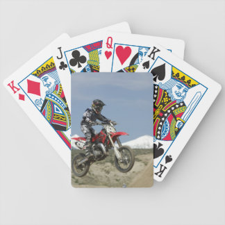 アイダホの競争競争するモトクロスオートバイの バイスクルトランプ