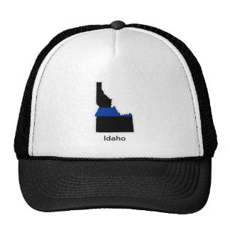 アイダホの薄いブルーライントラック運転手の帽子 メッシュ帽子