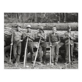 アイダホの製材所Workers 1939年 ポストカード