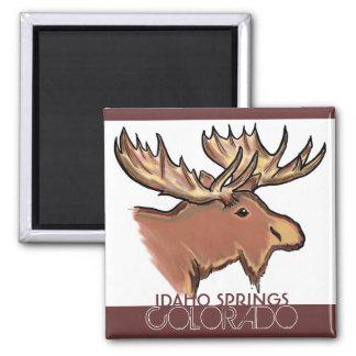 アイダホは茶色のアメリカヘラジカの磁石コロラド州のはねます マグネット