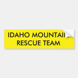 アイダホ山の救助隊 バンパーステッカー