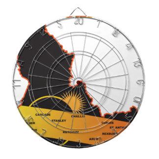 アイダホ都市地図を渡る2017年の日食 ダーツボード